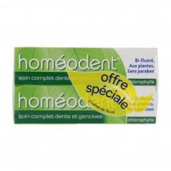 HOMEODENT Soin complet dents et gencives tube lot de 2 x 75ml